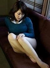 Horny and lovely Japanese av idol Rui Shinohara shows her naked smooth body