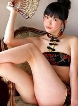 Tomoe Yamanaka shows hot behind under such short skirt